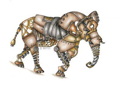 Steampunk Elephant